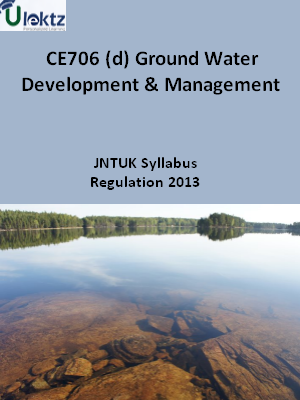 (d) Ground Water Development And Management - Syllabus