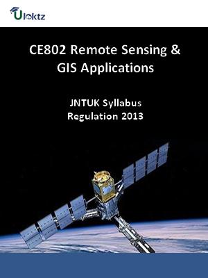 Remote Sensing And GIS Applications - Syllabus