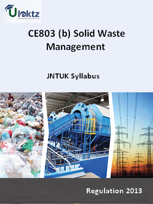 (b) Solid Waste Management - Syllabus