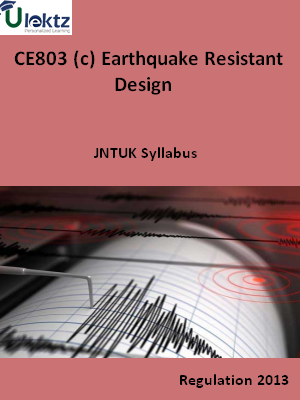 (c) Earthquake Resistant Design - Syllabus