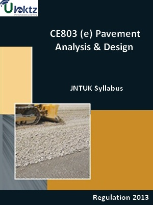 (e) Pavement Analysis And Design - Syllabus