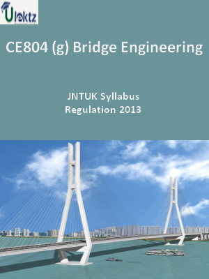 (g) Bridge Engineering - Syllabus