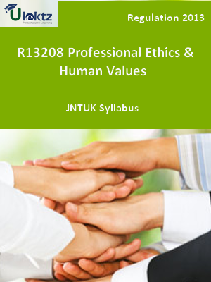 Professional Ethics and Human Values  - Syllabus