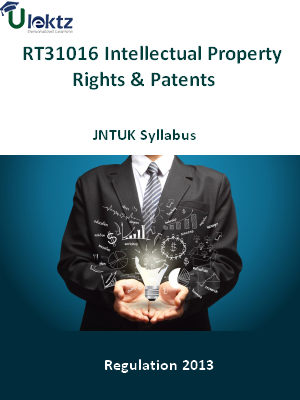 Intellectual Property Rights And Patents - Syllabus