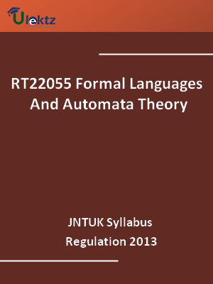 Formal Languages And Automata Theory - Syllabus
