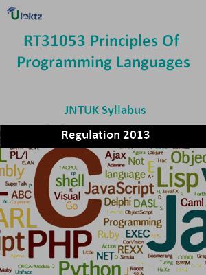 Principles Of Programming Languages - Syllabus