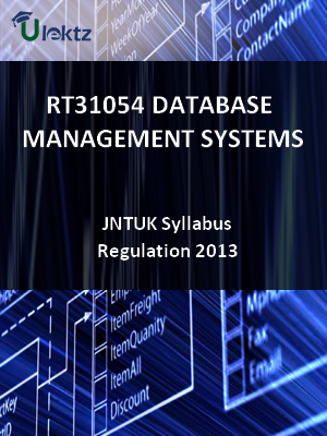 Database Management Systems - Syllabus