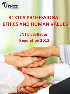 Professional Ethics And Human Values - Syllabus
