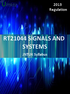 Signals And System - Syllabus