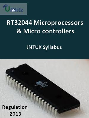Microprocessors & Micro controllers - Syllabus