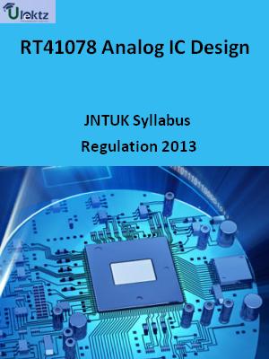 Analog IC Design - Syllabus