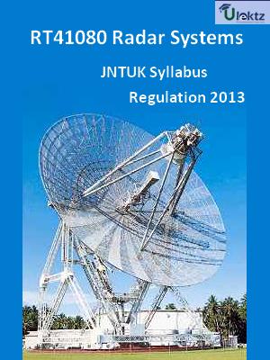 Radar Systems - Syllabus