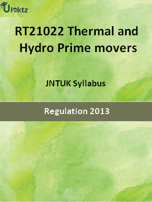 Thermal and Hydro Prime movers - Syllabus