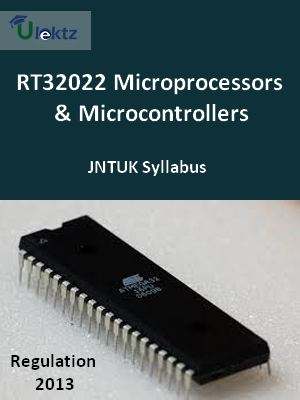 Microprocessors & Microcontrollers - Syllabus