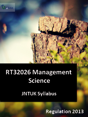 Management Science - Syllabus