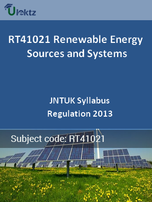 Renewable Energy Sources and Systems - Syllabus