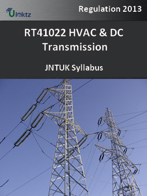 HVAC & DC Transmission - Syllabus