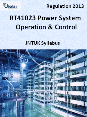Power System Operation & Control - Syllabus