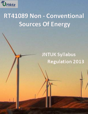 Non - Conventional Sources Of Energy - Syllabus