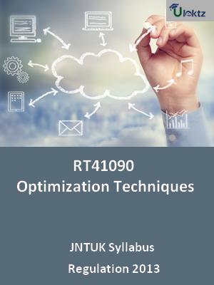 Optimization Techniques - Syllabus