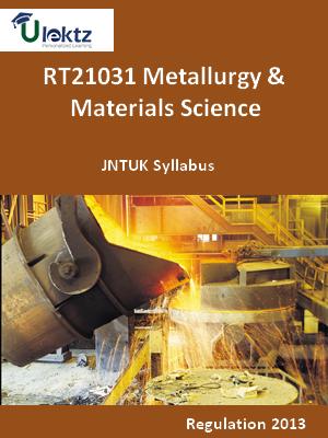 Metallurgy & Materials Science - Syllabus
