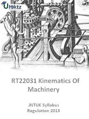 Kinematics Of Machinery - Syllabus