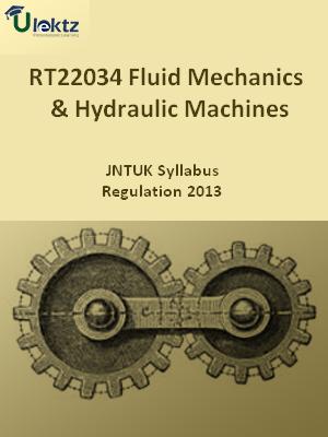 Fluid Mechanics & Hydraulic Machines - Syllabus