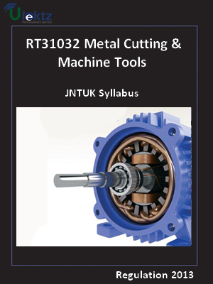 Metal Cutting & Machine Tools - Syllabus