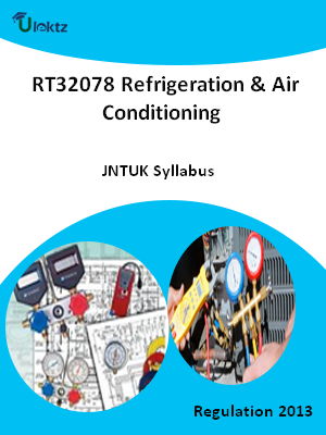 Refrigeration & Air Conditioning - Syllabus