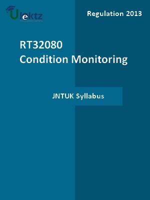 Condition Monitoring - Syllabus