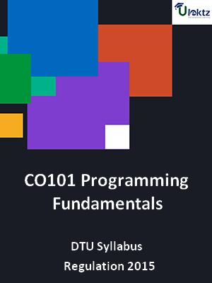 Programming Fundamentals - Syllabus