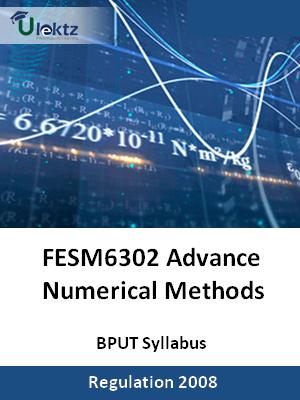 Advance Numerical Methods - Syllabus