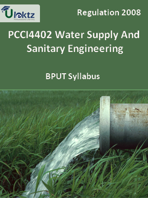 Water Supply And Sanitary Engineering - Syllabus