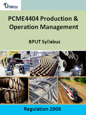 Production & Operation Management - Syllabus