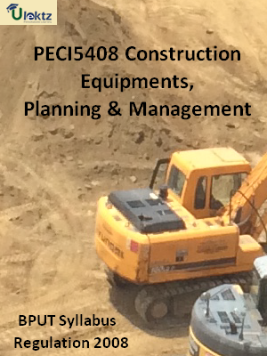 Construction Equipments, Planning & Management - Syllabus