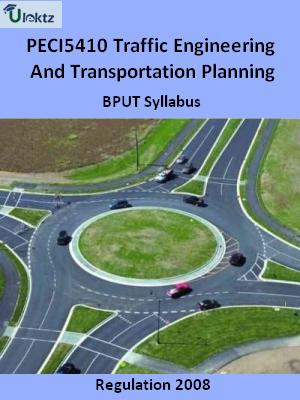 Traffic Engineering And Transportation Planning  - Syllabus