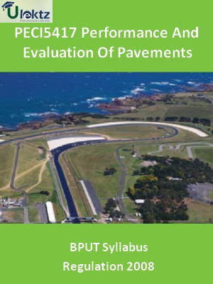 Performance And Evaluation Of Pavements - Syllabus