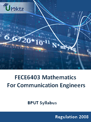 Mathematics For Communication Engineers - Syllabus