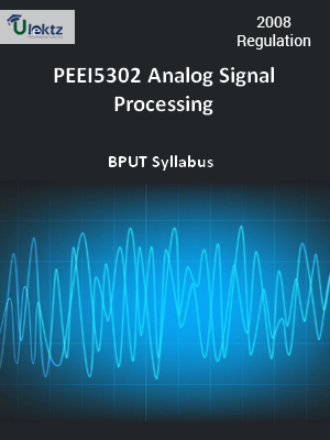 Analog Signal Processing - Syllabus