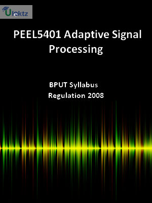 Adaptive Signal Processing - Syllabus