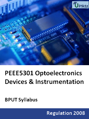 Optoelectronics Devices & Instrumentation - Syllabus
