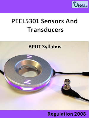 Sensors And Transducers - Syllabus