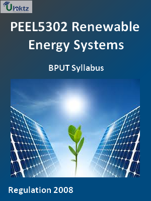 Renewable Energy Systems - Syllabus