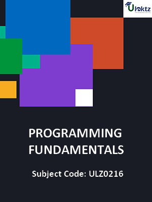 Programming Fundamentals (Concept of Subprograms)