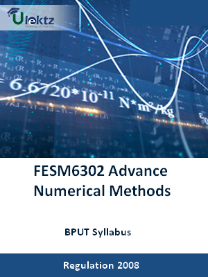 Advance Numerical Methods - Syllabus