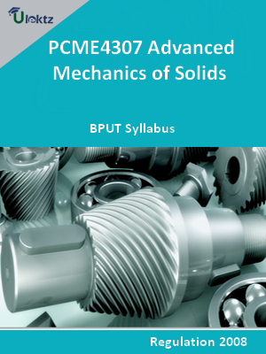 Advanced Mechanics of Solids - Syllabus