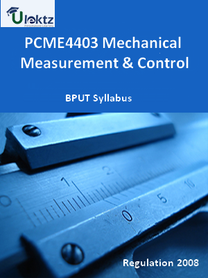 Mechanical Measurement & Control - Syllabus