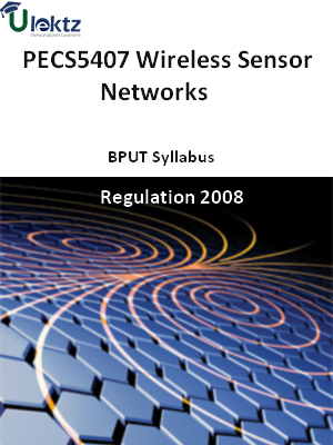 Wireless Sensor Networks - Syllabus