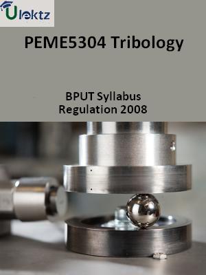 Tribology - Syllabus