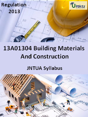 Building Materials And Construction - Syllabus